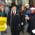 Last year's event, where we were visited by a very Dickensian-looking gentleman!
