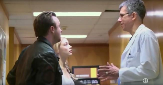 "Aaron Paul, Sarah Gadon and Adam Abrams in ""The 9th Life of Louis Drax"""